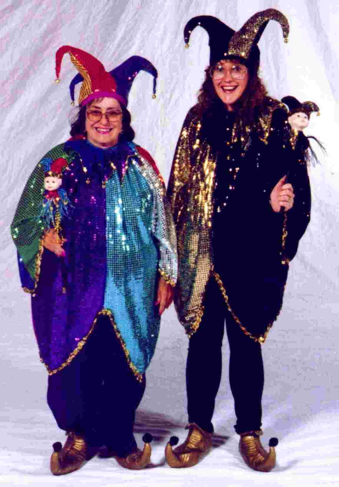 Costume World's owner Sue (right), and her mother, Marjorie, at the 1997 National Costumers Association Convention in Las Vegas.
